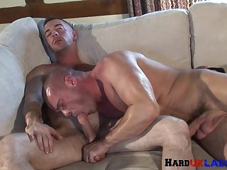 Ripped euro stud doggystyle fucked by brit