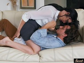 Classy stepsister pussyfucked on all fours