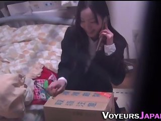 Japanese teen gets off