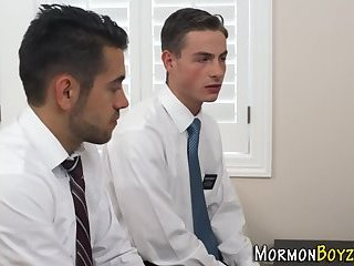 Gay mormons 3way fuck
