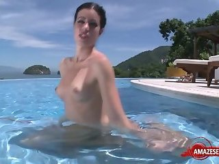 Hot pornstar outdoor and cumshot