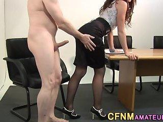 Clothed amateur gets fuck