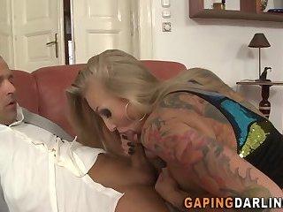 Cute butt milf facialized