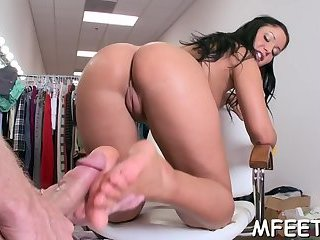 Stunning footjob as a solution