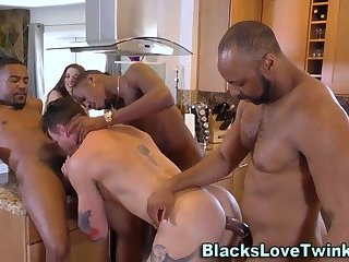 Ebony group sperm whitey