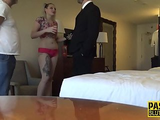 Mouth fucked submissive