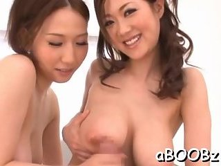 Busty Asian severe sex at home