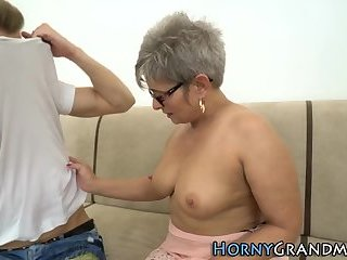Tattooed granny fucking