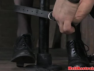 Redhead sub bound and toyed by her maledom