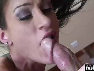 Lucky guy has fun with a sweet girl