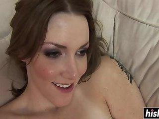 Tattooed girl has fun with a cock
