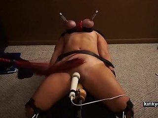 Lesbian Amateur BDSM with slave Nicole