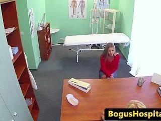 Dyke nurse pleasures her patient