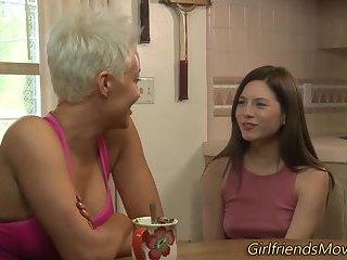 Lesbian orgasms for milf
