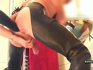 Femdom Louise with her arm in my ass