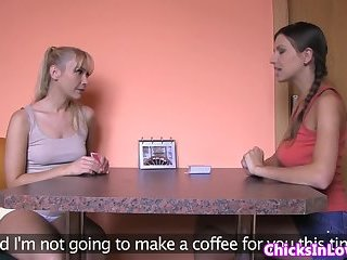 European babe pussylicking her roommate