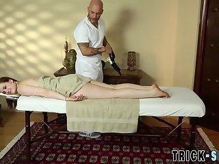 Tit fucked massage cutie