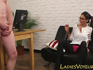 Domme makes fun of loser