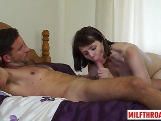 British mature blowjob with cumshot