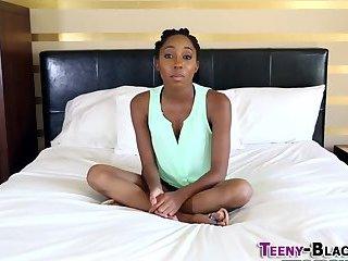 Oily ass ebony teenager