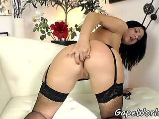 Bigbooty eurobabe assfucked in gaping hole
