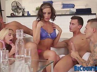 Bisexual group dudes jizz