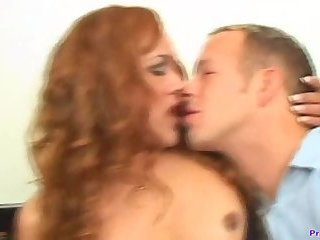 Trans babe cums while getting her ass fucked