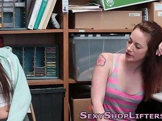 Teenage thieves take cock