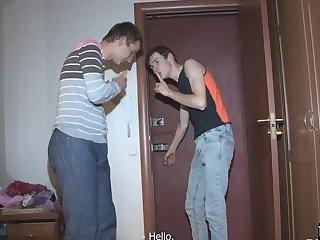 Cheating petite exgf cockriding a stranger