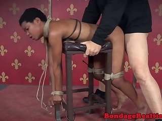 Submissive black babe getting hardfucked