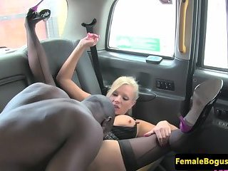 British MILF doggystyled on the back seat