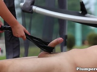 Chubby domina pussyfucked in threesome