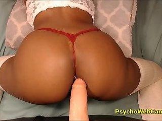 Best Black Ass POV DoggyStyle Sliding on Dildo