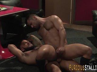 Muscular stud ass plowed