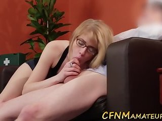 Screenshot video cfnm amateur in glasses