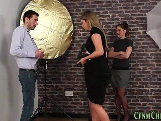 Cfnm photographer spermed