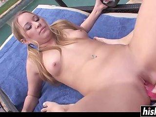 Sweet lesbians like to masturbate together