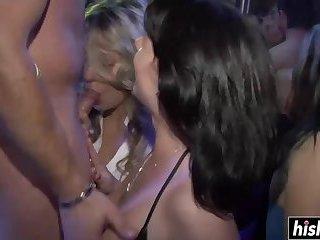 Skilled babes take care of big dicks