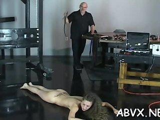 Extreme bondage with mature