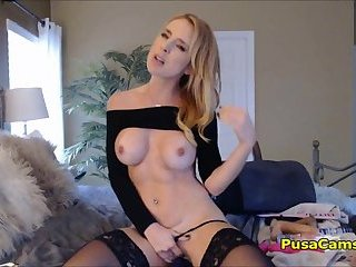 Extreme Hot Big Tits Blonde Yelling and Screaming From Masturbation