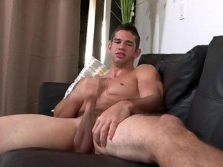 Ripped marine stud solo tugging hard dick