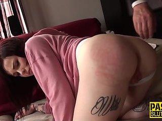Dominated amateur spanked