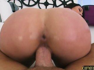 Bigass MILF tastes deepthroating pov cock