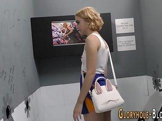 Cheerleader at gloryhole
