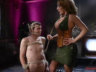 Richelle is toying around with her slave