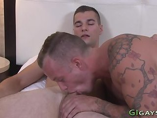 Soldiers ass screwed raw