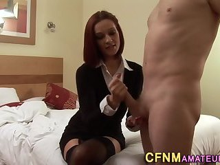 Thin cfnm amateur jerks