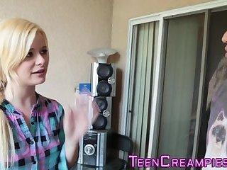 Teen blonde jizz filled
