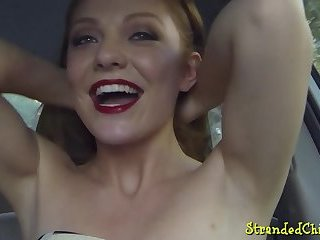 Teen cocksucker drilled after hitchhiking