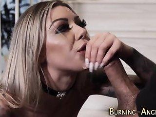 Tit fucked tattooed goth